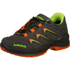 Lowa Maddox GTX LO Shoes Kids graphite/flame